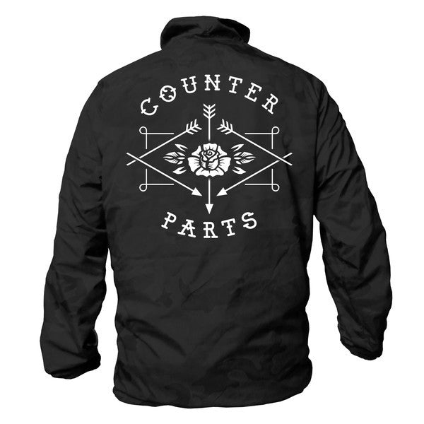 Counterparts Official Merch - Logo Windbreaker (Black)