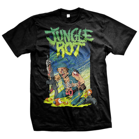 Jungle Rot merch Melting Tee (Black)