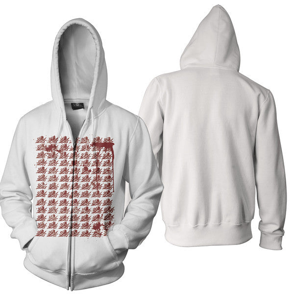 Bayside Official Merch - Crisis (White Zip Up Hoodie)