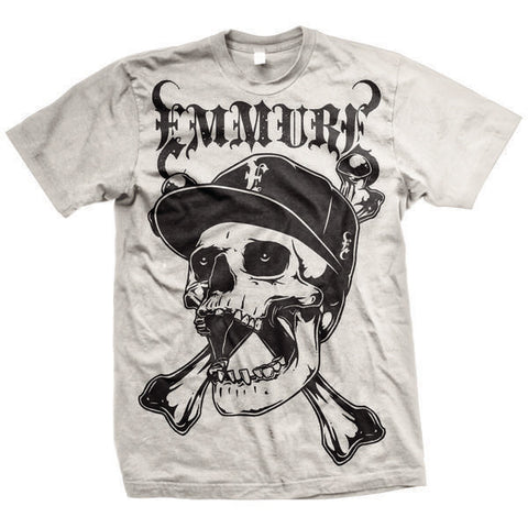 Emmure Official Merch - Street Skull (White Tee)