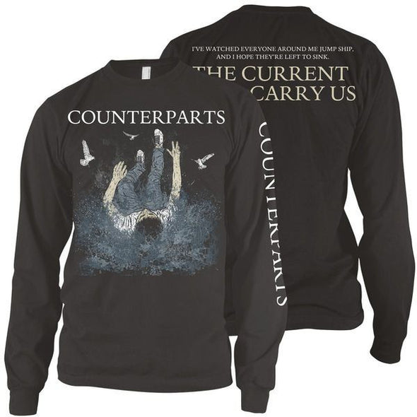 Counterparts Official Merch - The Current Will Carry Us (Black Longsleeve)