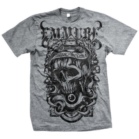 Emmure Official Merch - Seeing Eye Skull (Ash Grey Tee)
