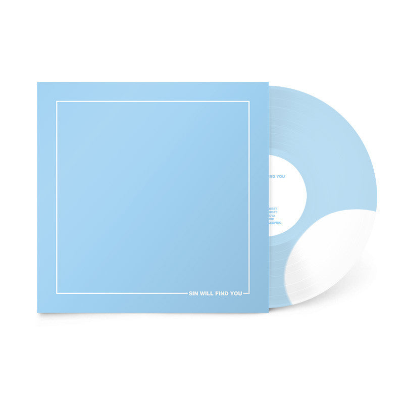 "Sin Will Find You (12"" Baby Blue w/ Solid White Bite Vinyl) (7402736579)"