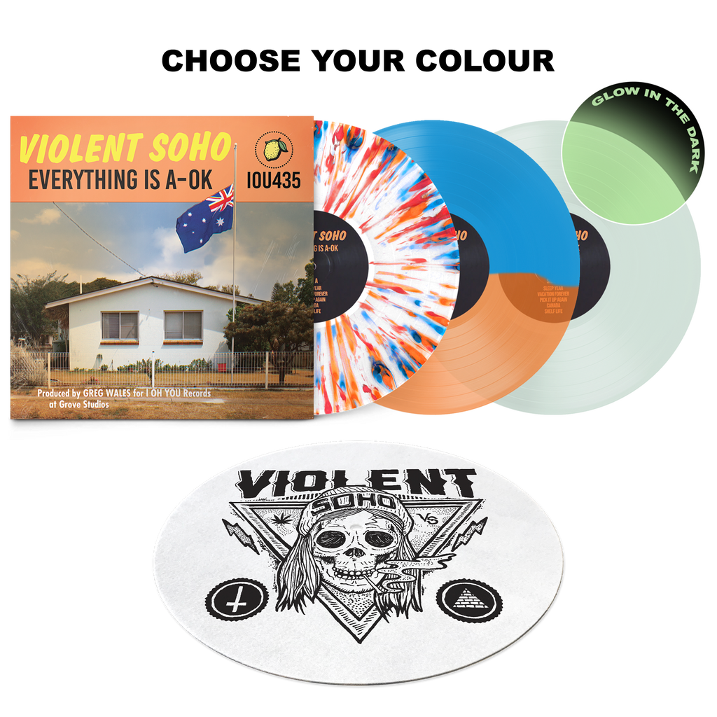 Everything Is A-OK Vinyl + Blazin' Skull Slipmat // PREORDER