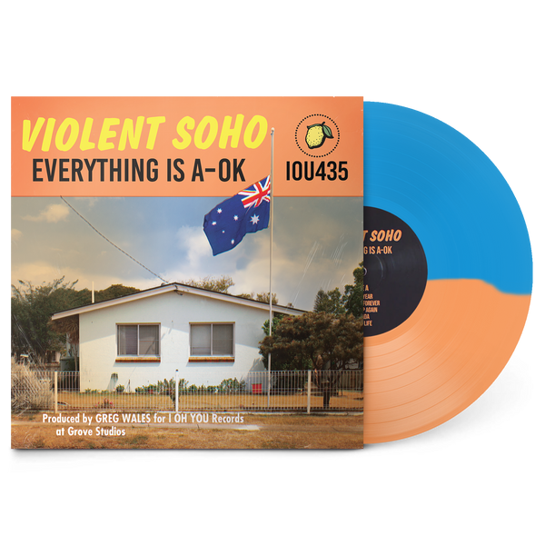 "Everything Is A-OK 12"" Vinyl (Half Clear Orange/Half Blue Opaque)"