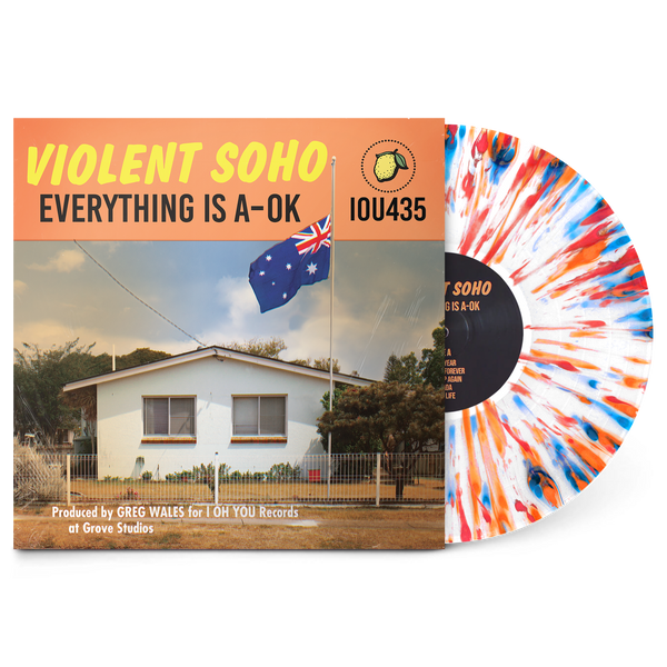 "Everything Is A-OK 12"" Vinyl (White w/ Red, Blue and Orange Splatter)"