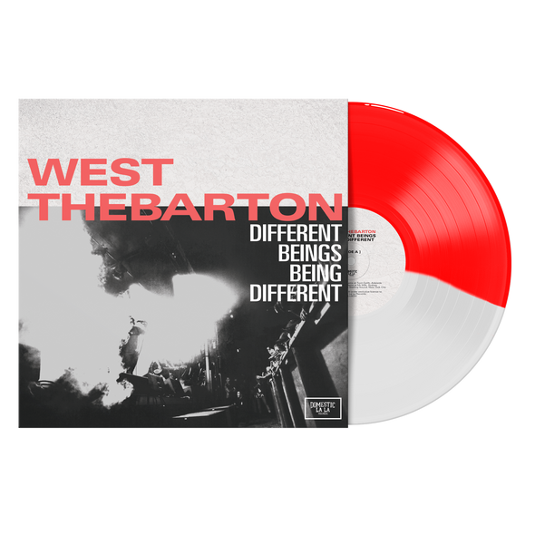 "Different Beings Being Different 12"" Vinyl (Half Opaque Red / Half Clear) // PREORDER"
