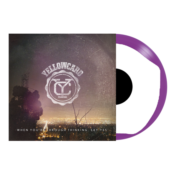 "Yellowcard Official Merch - When You're Through Thinking, Say Yes 12"" Vinyl (Purple + White Smash)"