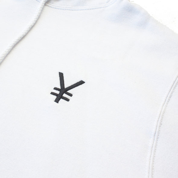 ¥€$ Embroidered Hoodie (White)