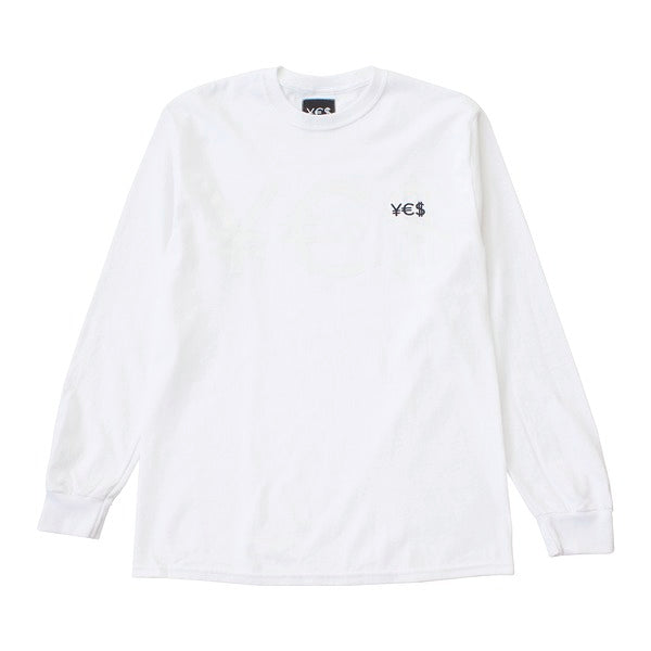 ¥€$ Embroidered Long Sleeve (White)
