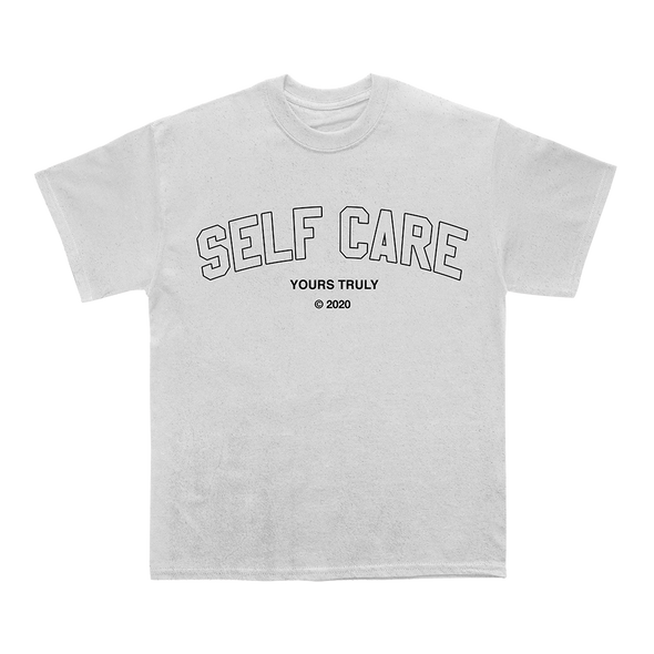 Self Care Varsity Tee (White) // PREORDER