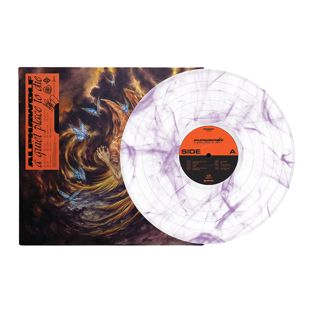 a quiet place to die LP (White w/ Purple Smoke) // PREORDER