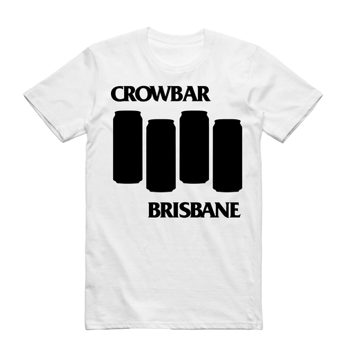 Crowbar Official Merch - Black Flag Tee (White)