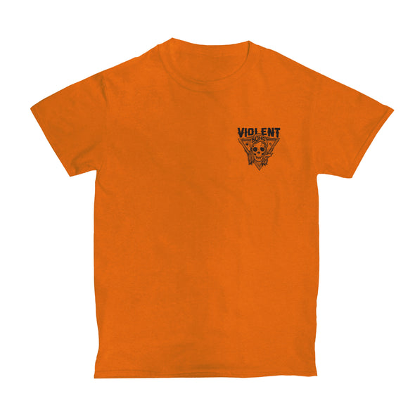 Blazin Skull Tee (Safety Orange)