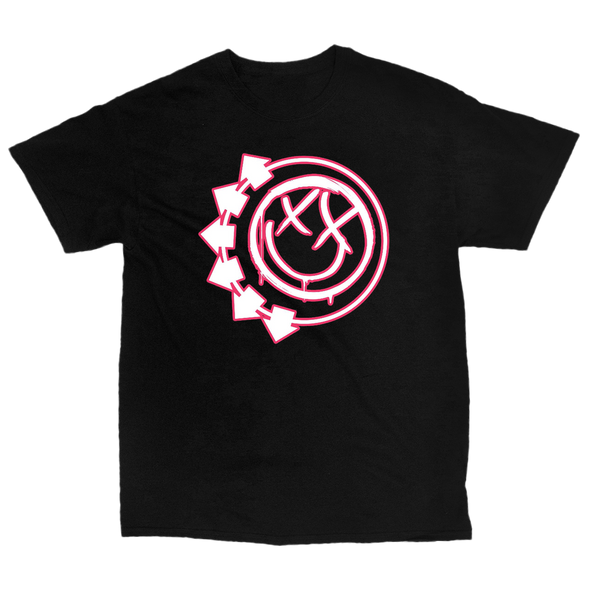 Six Arrow Smiley Stroke Tee (Black)