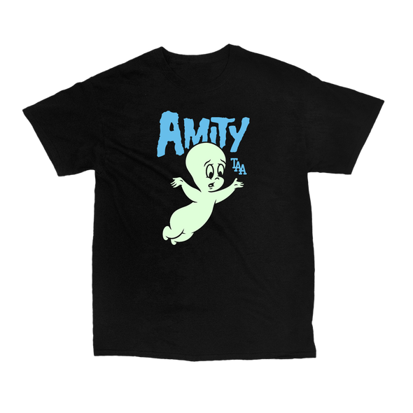 Casper Tee (Black with Glow In The Dark Print)