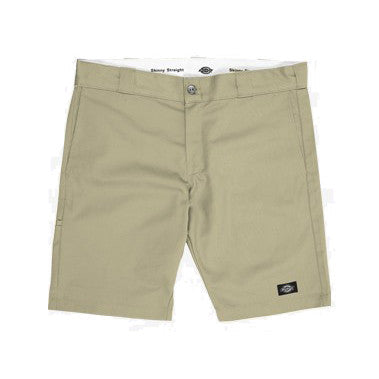 "Skinny Straight Fit 10"" Shorts (Khaki)"