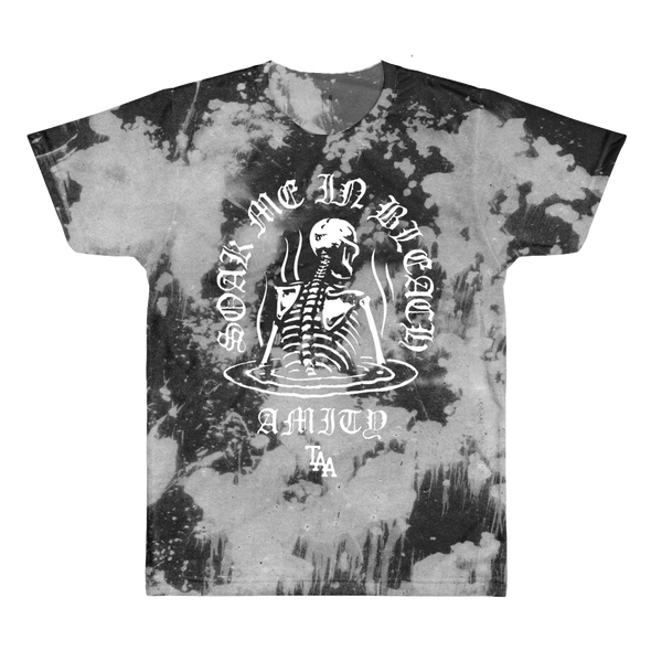 Soak Me In Bleach Tie Dye Tee (Black Bleach)