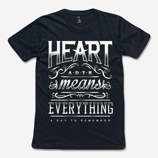 A Day To Remember Official Merch - Heart Means Everything (Black Tee)