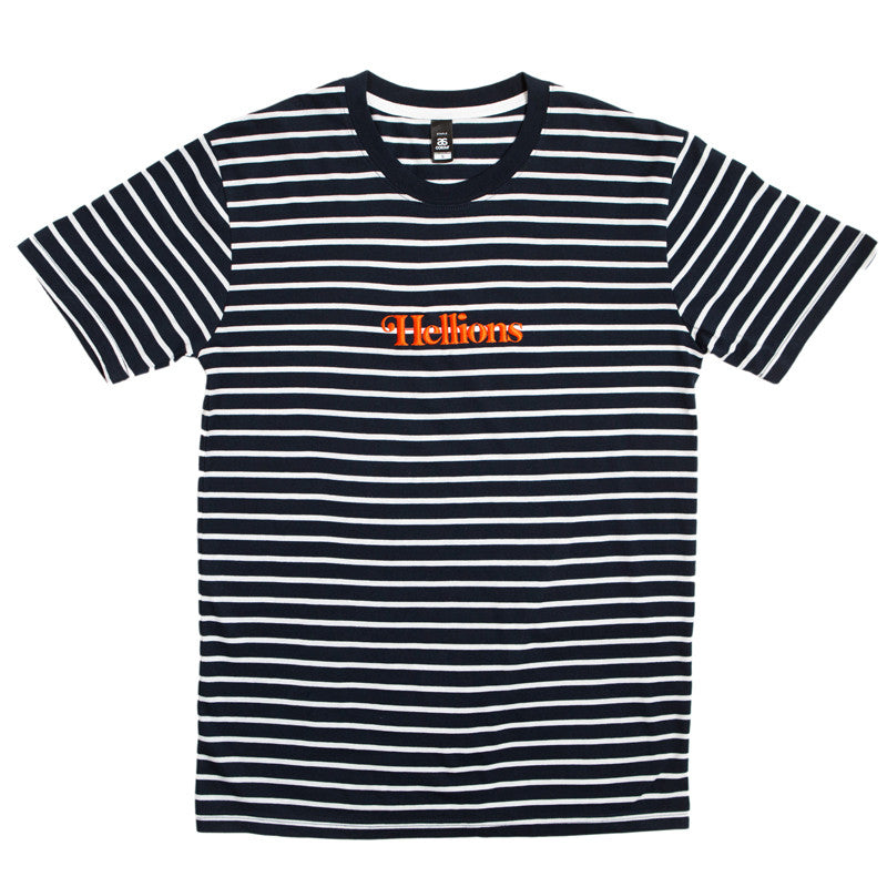 Hellions Official Merch - Hellions Embroidered Stripe Tee