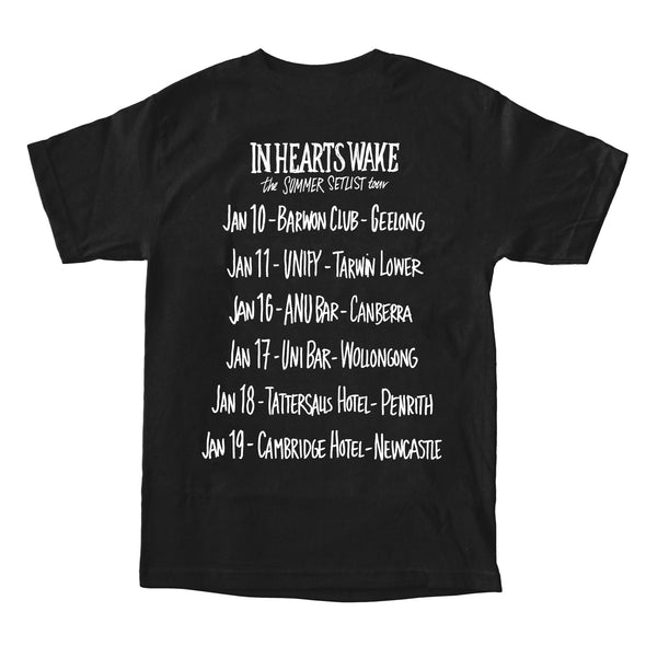 Summer Setlist Tour 2019 Tee (Blue on Black)