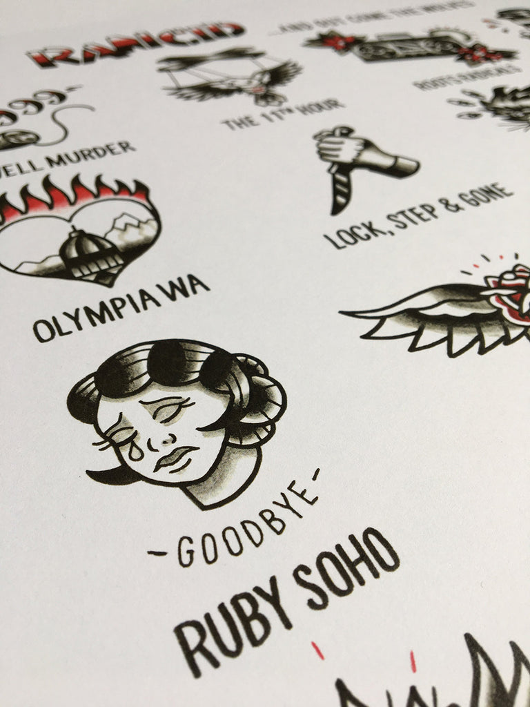 Rancid Tattoo Flash Print