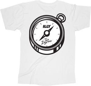 Illy Official Merch - Two Degrees Tee (White)