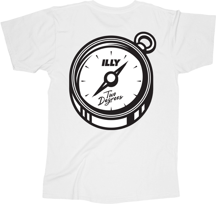 Two Degrees Tee (White)