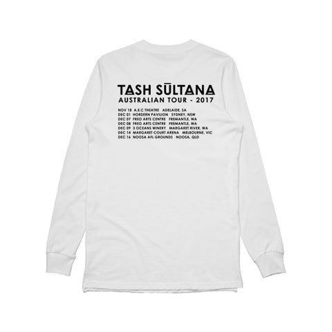 Skull Tour Long Sleeve (White)