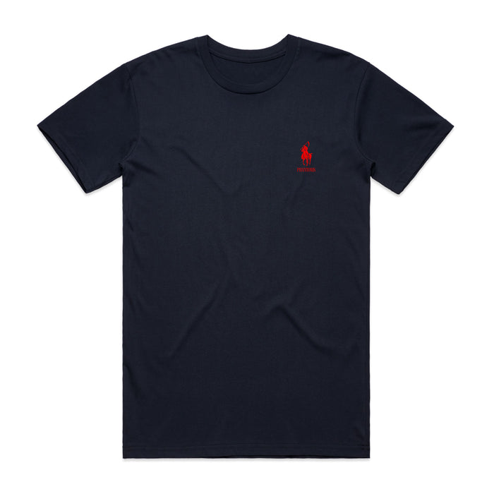 Polo Reaper Tee (Red on Navy)