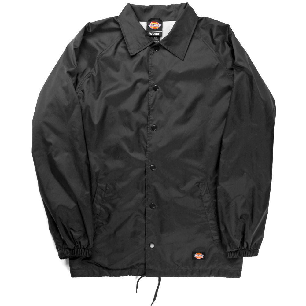 Snap Front Nylon Jacket (Black)
