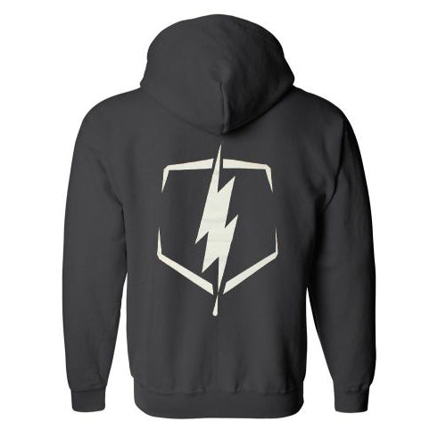 Bolt Zip-Up Hoodie (Black)