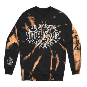 Spider Web Crewneck (Bleach Dye)