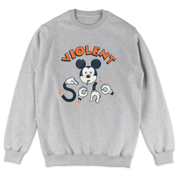 Dead Mouse Crewneck (Grey Marle)