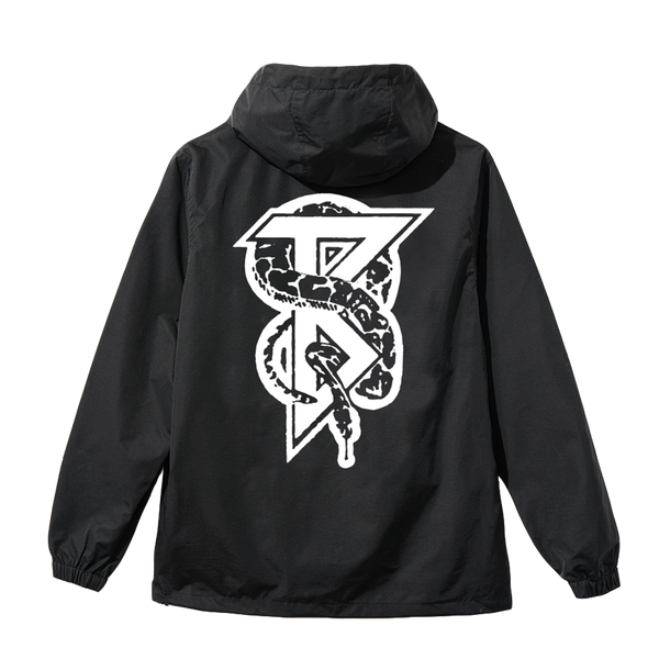 Snake Windbreaker (Black) // PREORDER