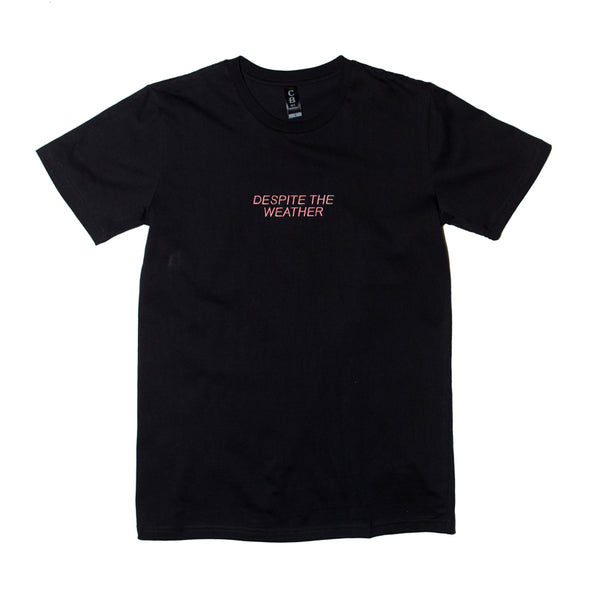 Despite The Weather Embroidered Tee (Black)