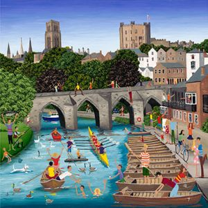 Durham Rowing Greetings Card