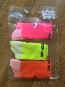 Three Pairs Supersaver Fluoro Calf Sports Socks