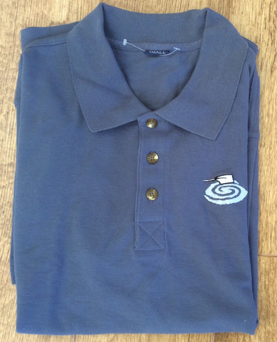 Light Blue Puddles Polo Shirt