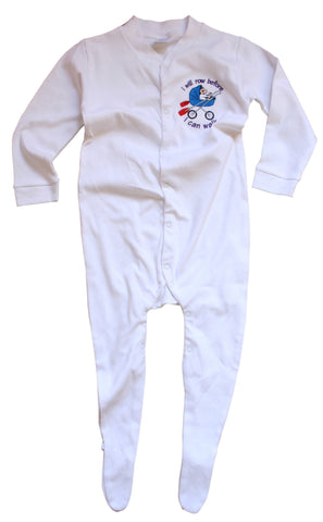 Row Before I Walk Baby Sleepsuit