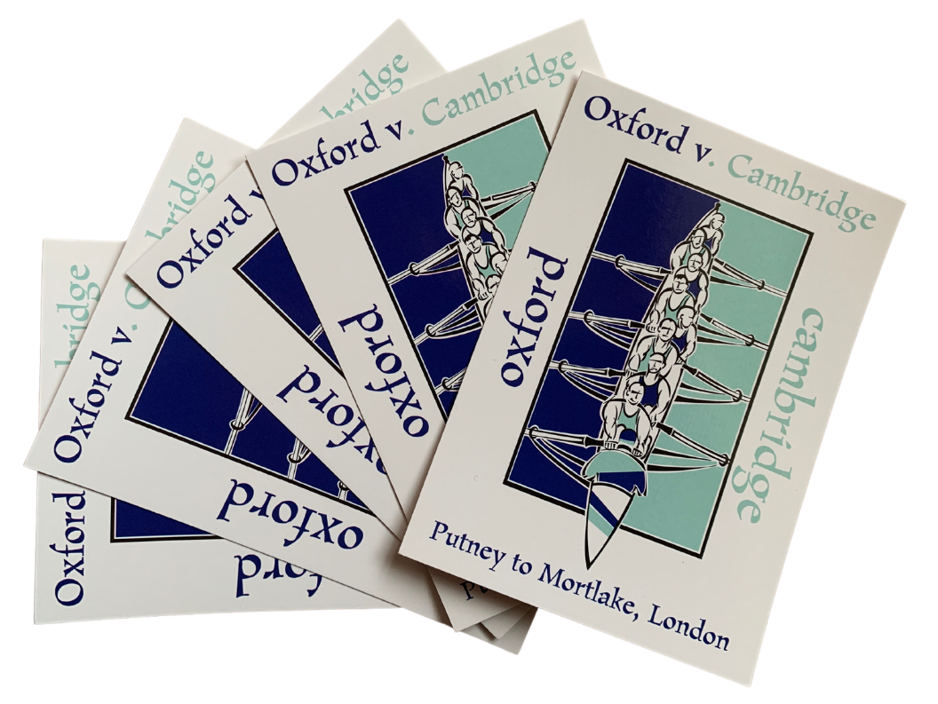 Oxford v. Cambridge Boat Race Postcard Pack (5 cards)