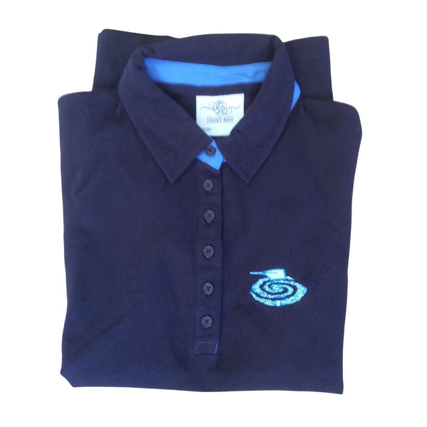 Women's Navy Puddles Polo Shirt
