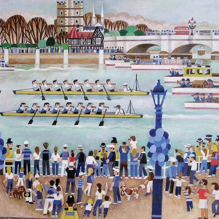 Putney Boat Race Greetings Card