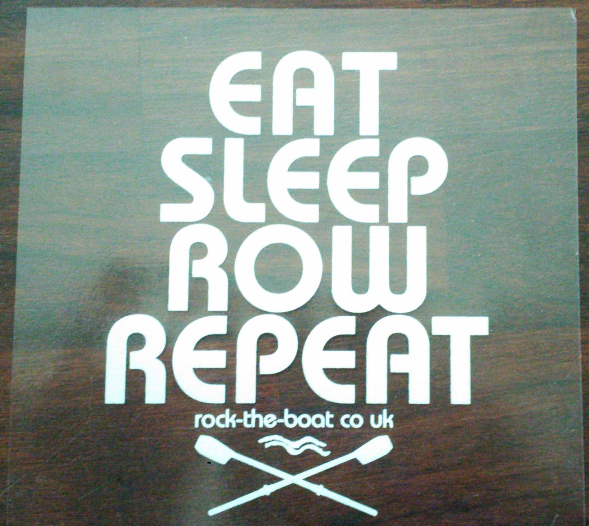 Eat sleep row repeat window sticker
