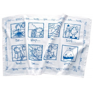 Eat sleep row tea towel