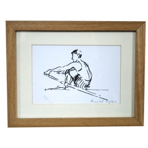 Male Sculler - small unframed