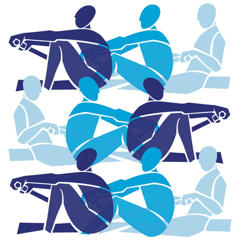 Rowers in Blues print