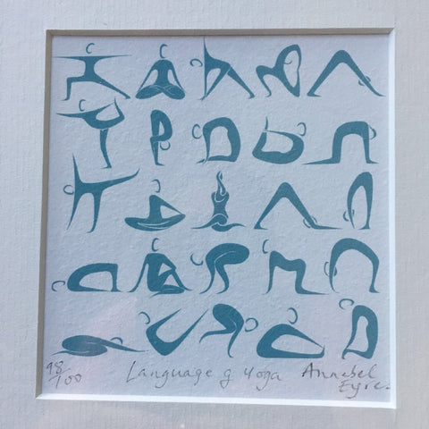 Language of Yoga Print