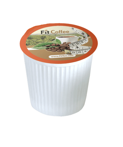 FitCoffee Premium Dark House Arabica Coffee - Natural Energy Booster - Sustainable Single Serve K-Cup Coffee Pods - 10 Servings - Fit Tea