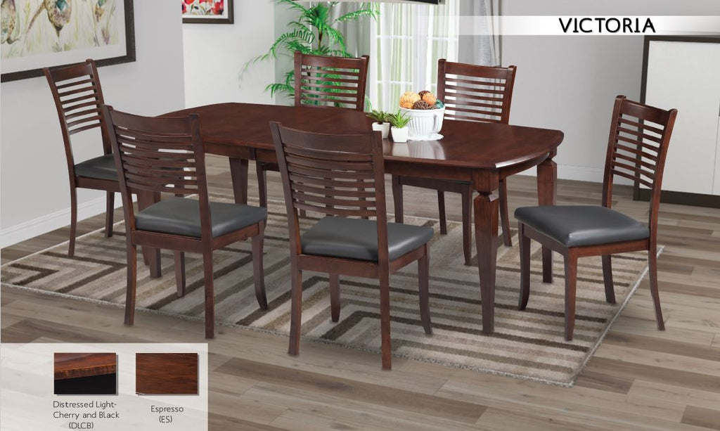 Picture of: Victoria Dining Set With 33cl Chair In Espresso T T P Furnish Co Ltd